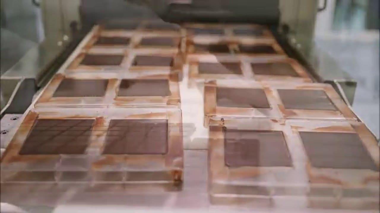 Como funciona uma fábrica de chocolates
